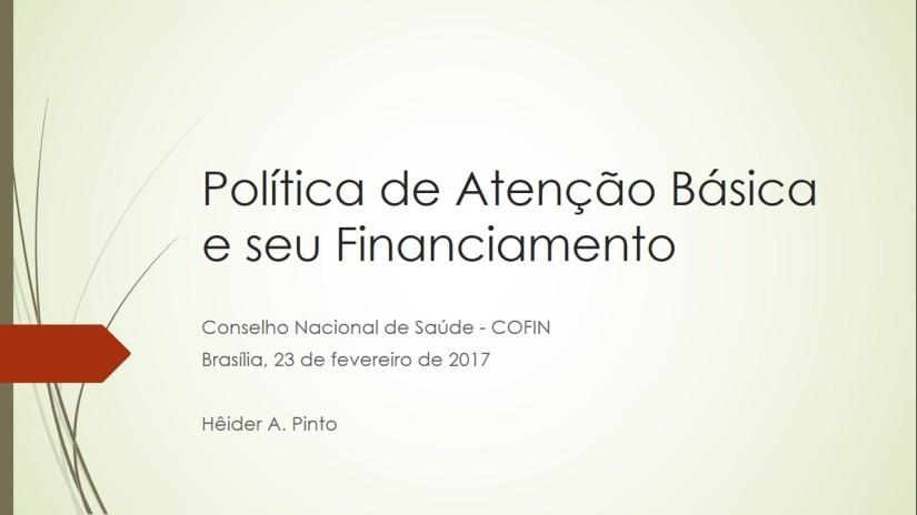Financiamento da Atenção Básica e a riscos sobre a desregulamentação do financiamento dasaúde