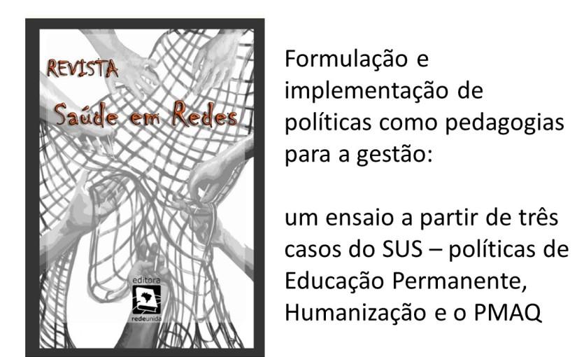 Artigo: formulação e implementação de políticas como pedagogias para agestão