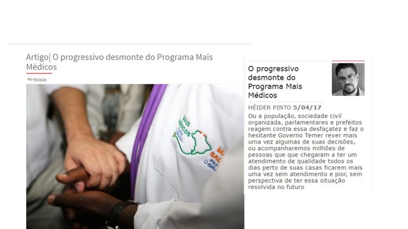 O progressivo desmonte do Programa MaisMédicos