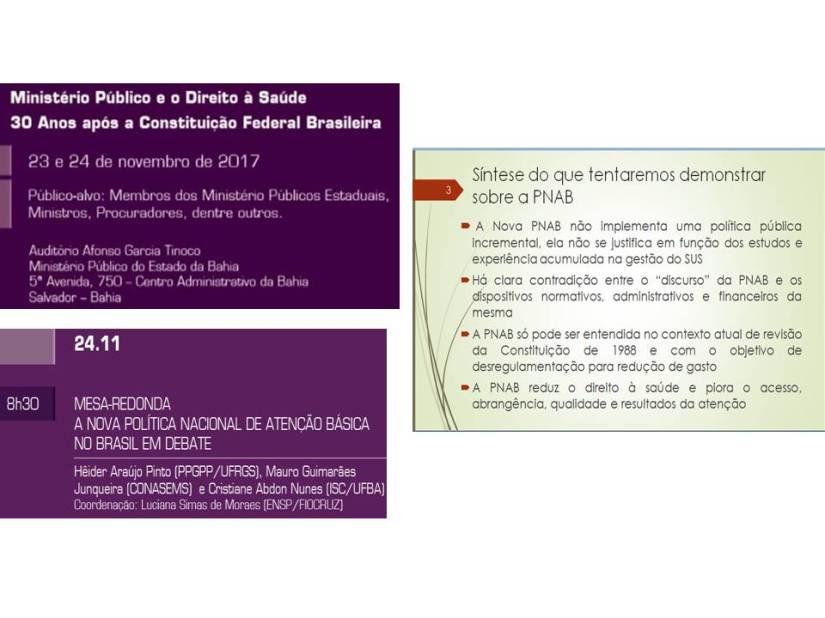 Ministério Público de todo o país debate como preservar o direito à saúde e o SUS no contextoatual