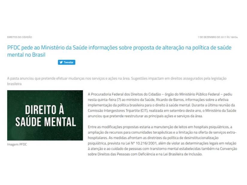 Golpe duríssimo na saúde mental doBrasil