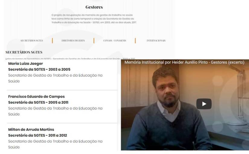 Entrevista com Hêider projeto memória do ObservaSUS –InovaSUS