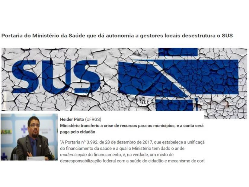 Sanitaristas criticam mudança do financiamento da saúde promovida por RicardoBarros