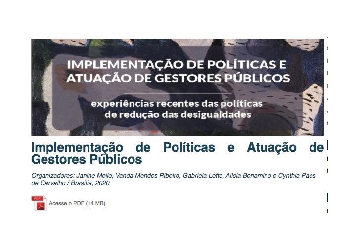 Livro do Ipea que analisa políticas para a redução das desigualdades noBrasil