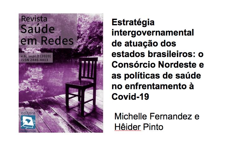 o Consórcio Nordeste e as políticas de saúde no enfrentamento àCovid-19